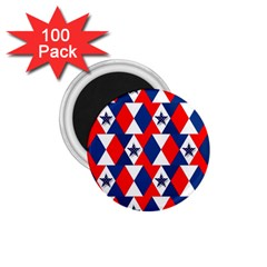 Patriotic Red White Blue 3d Stars 1.75  Magnets (100 pack)