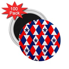 Patriotic Red White Blue 3d Stars 2.25  Magnets (100 pack)
