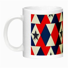 Patriotic Red White Blue 3d Stars Night Luminous Mugs