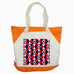 Patriotic Red White Blue 3d Stars Accent Tote Bag