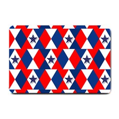 Patriotic Red White Blue 3d Stars Small Doormat