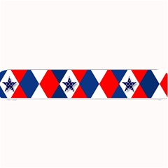Patriotic Red White Blue 3d Stars Small Bar Mats