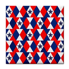 Patriotic Red White Blue 3d Stars Face Towel
