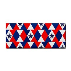 Patriotic Red White Blue 3d Stars Cosmetic Storage Cases