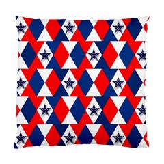 Patriotic Red White Blue 3d Stars Standard Cushion Case (Two Sides)