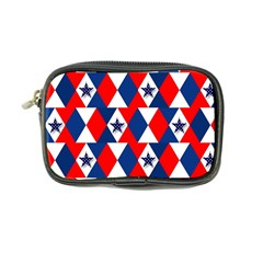 Patriotic Red White Blue 3d Stars Coin Purse
