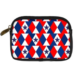 Patriotic Red White Blue 3d Stars Digital Camera Cases