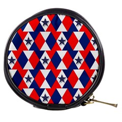 Patriotic Red White Blue 3d Stars Mini Makeup Bags