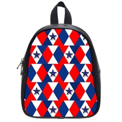 Patriotic Red White Blue 3d Stars School Bags (Small)