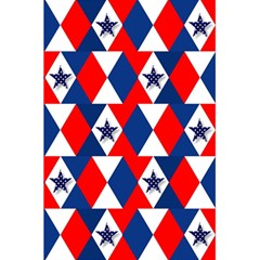 Patriotic Red White Blue 3d Stars 5.5  x 8.5  Notebooks