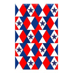 Patriotic Red White Blue 3d Stars Shower Curtain 48  x 72  (Small)
