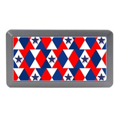 Patriotic Red White Blue 3d Stars Memory Card Reader (Mini)