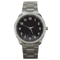 Windmild City Building Grey Sport Metal Watch