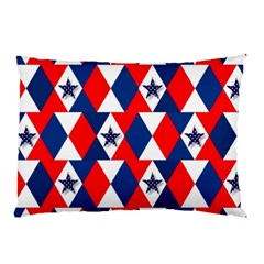 Patriotic Red White Blue 3d Stars Pillow Case (Two Sides)