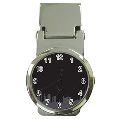 Windmild City Building Grey Money Clip Watches