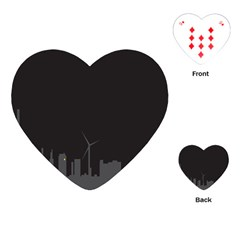 Windmild City Building Grey Playing Cards (Heart)