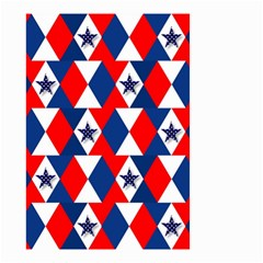 Patriotic Red White Blue 3d Stars Small Garden Flag (two Sides)