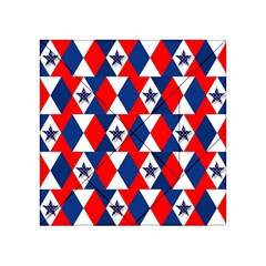 Patriotic Red White Blue 3d Stars Acrylic Tangram Puzzle (4  x 4 )