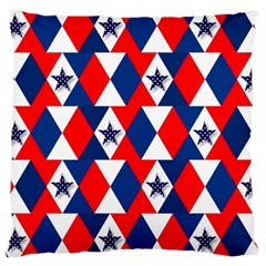 Patriotic Red White Blue 3d Stars Large Cushion Case (two Sides)