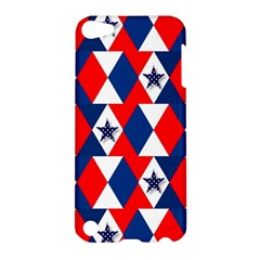 Patriotic Red White Blue 3d Stars Apple Ipod Touch 5 Hardshell Case