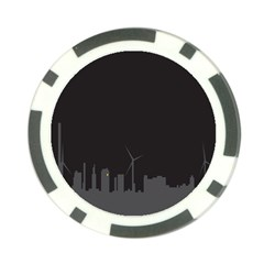 Windmild City Building Grey Poker Chip Card Guard