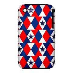 Patriotic Red White Blue 3d Stars iPhone 3S/3GS