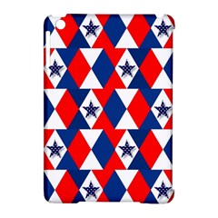 Patriotic Red White Blue 3d Stars Apple iPad Mini Hardshell Case (Compatible with Smart Cover)