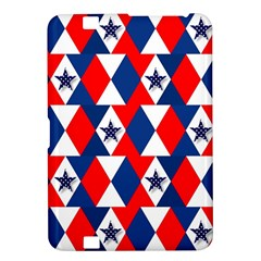 Patriotic Red White Blue 3d Stars Kindle Fire HD 8.9
