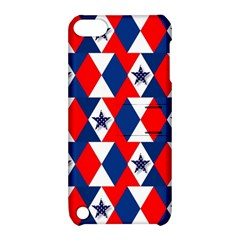 Patriotic Red White Blue 3d Stars Apple iPod Touch 5 Hardshell Case with Stand