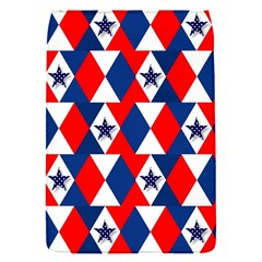 Patriotic Red White Blue 3d Stars Flap Covers (S)
