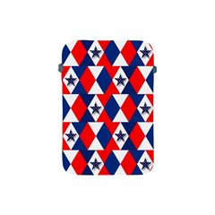 Patriotic Red White Blue 3d Stars Apple iPad Mini Protective Soft Cases