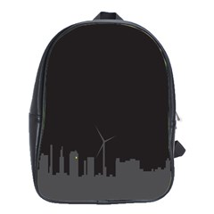 Windmild City Building Grey School Bags(Large)