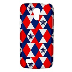 Patriotic Red White Blue 3d Stars Galaxy S4 Mini