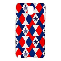 Patriotic Red White Blue 3d Stars Samsung Galaxy Note 3 N9005 Hardshell Case