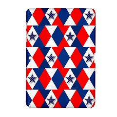 Patriotic Red White Blue 3d Stars Samsung Galaxy Tab 2 (10.1 ) P5100 Hardshell Case
