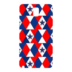 Patriotic Red White Blue 3d Stars Samsung Galaxy Note 3 N9005 Hardshell Back Case