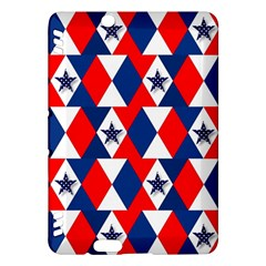 Patriotic Red White Blue 3d Stars Kindle Fire Hdx Hardshell Case