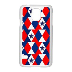 Patriotic Red White Blue 3d Stars Samsung Galaxy S5 Case (white)