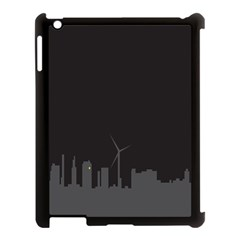 Windmild City Building Grey Apple iPad 3/4 Case (Black)