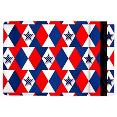Patriotic Red White Blue 3d Stars iPad Air 2 Flip