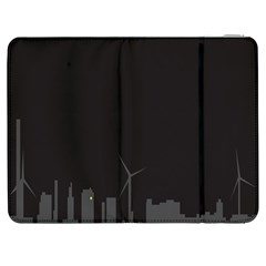 Windmild City Building Grey Samsung Galaxy Tab 7  P1000 Flip Case