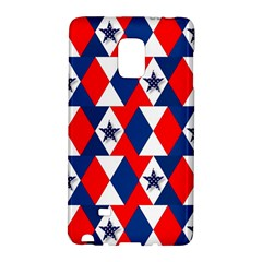 Patriotic Red White Blue 3d Stars Galaxy Note Edge