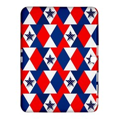 Patriotic Red White Blue 3d Stars Samsung Galaxy Tab 4 (10 1 ) Hardshell Case