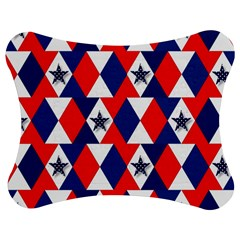 Patriotic Red White Blue 3d Stars Jigsaw Puzzle Photo Stand (Bow)