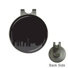 Windmild City Building Grey Hat Clips with Golf Markers