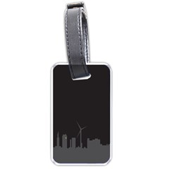 Windmild City Building Grey Luggage Tags (One Side)