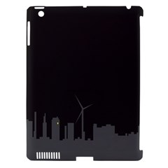 Windmild City Building Grey Apple iPad 3/4 Hardshell Case (Compatible with Smart Cover)