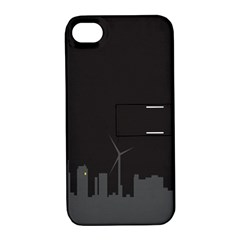 Windmild City Building Grey Apple iPhone 4/4S Hardshell Case with Stand