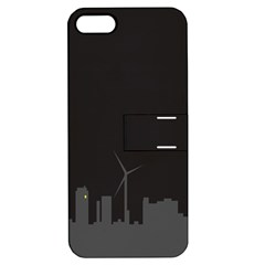 Windmild City Building Grey Apple iPhone 5 Hardshell Case with Stand