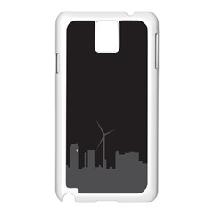 Windmild City Building Grey Samsung Galaxy Note 3 N9005 Case (White)